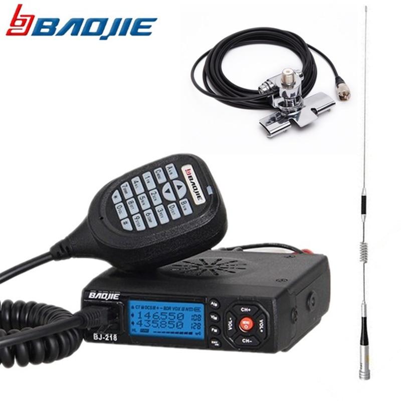 Baojie BJ 218 Mini Mobile Radio 20KM 25W Dual Band VHF UHF Car Walkie Talkie 136