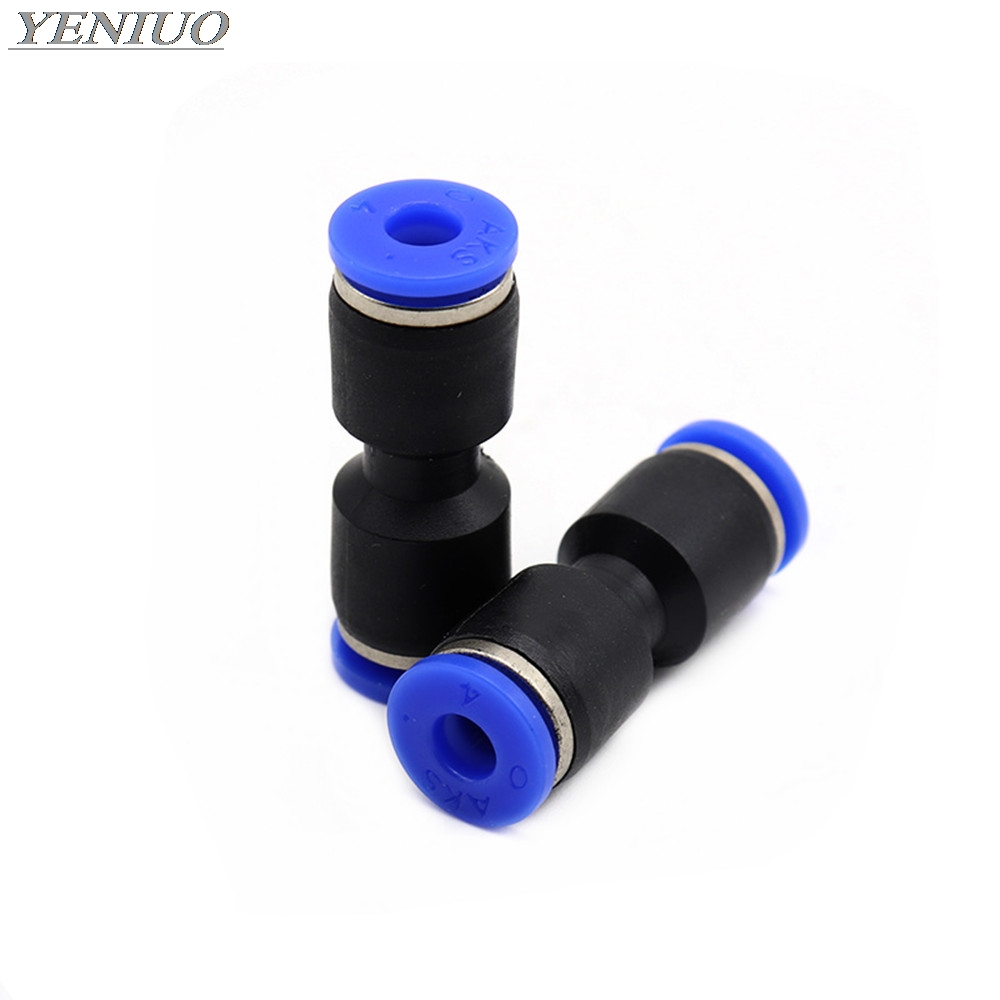 "PU"" 4 6 8 10 12 14 16 MM OD Hose Pipe Straight Push in Fitting Pneumatic Push to Connect Air Quick Fitting"