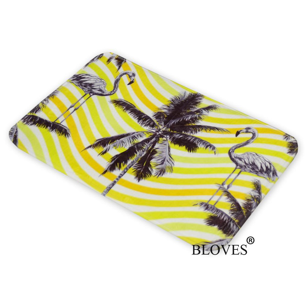 Aliexpress.com : Buy Flamingo Palm Tree Pineapple Flannel Floor Mat Nordic  Design Bath Mat Alfombras Bathroom Carpets Kitchen Rugs Kids Bedroom From  ...