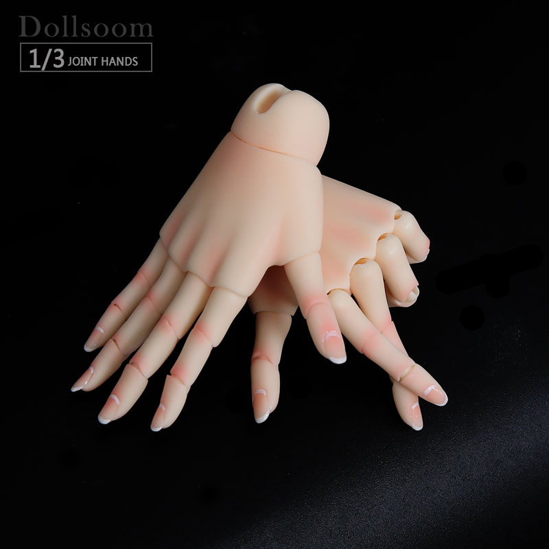 BJD Jointed Hands suitable for 1/3 or 1/4 bjd doll boy and girl body IOS IP ID72 R72 Sd17 DS SD Feeple