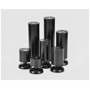 Image 5 - 4Pcs Black Cabinet Stainless Steel Kitchen Feet Worktop TV Desk Table Legs Furniture Sofa  Rubber Mat Safe & Silent