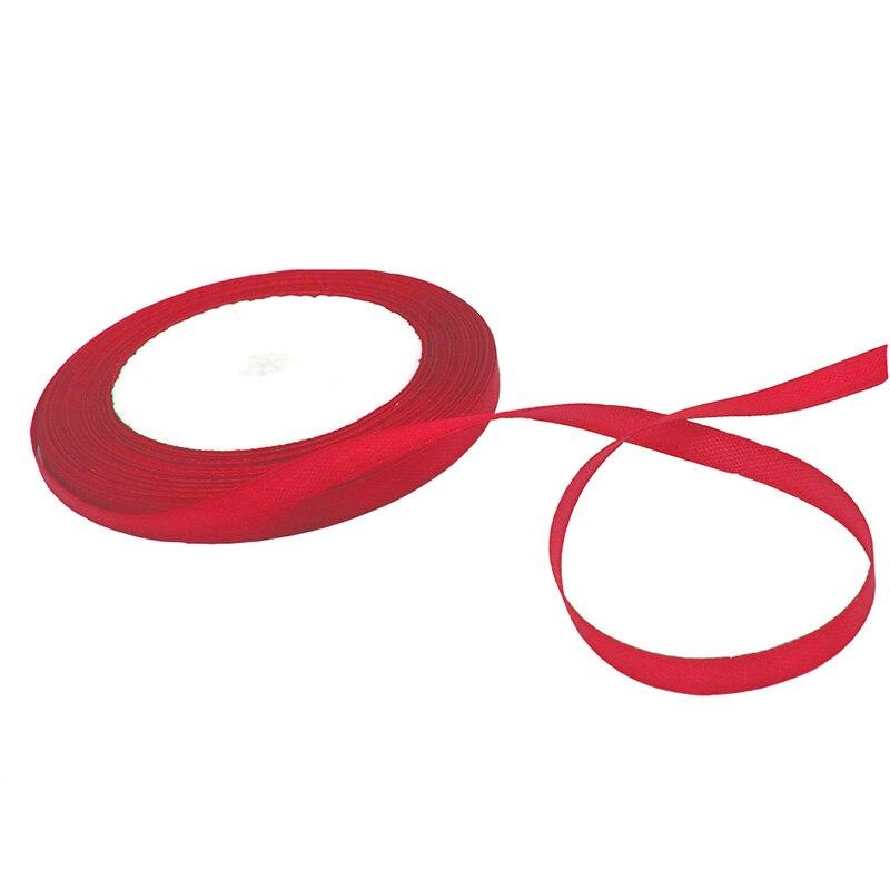 6 мм 25yard шелковые, атласные ленты для свадьбы Рождественская праздничная подарочная упаковка DIY Craft Скрапбукинг питания