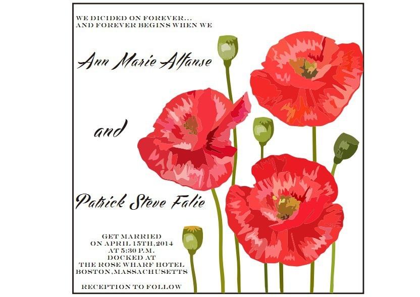 Poppies Wedding Invitations