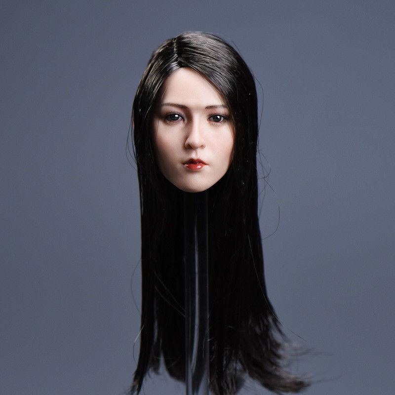 1//6 Asian Female Head Sculpt B cheveux court pour PHICEN TBLeague HotToys Figure USA