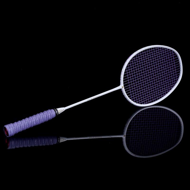 Graphite Single Badminton Racquet Professional Carbon Fiber Badminton Racket With Carrying Bag &T8