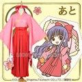 CARD CAPTOR SAKURA Daidouji Tomoyo Kimono Hakama Cosplay Con Headwear
