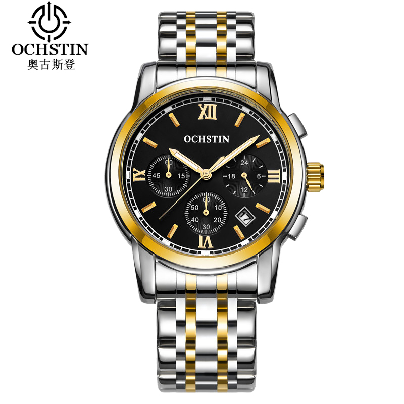OCHSTIN Business Sport Watch Men Luxury Water Resistant Men Watches Military Pilot Quartz Watch Steel Male Clock Horloges Mannen цена и фото