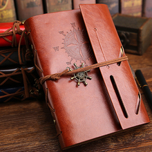 2019 Spiral Notebook Diary Notepad Vintage Pirate Anchors PU Leather Note Book Replaceable Stationery Gift Traveler Journal vintage traveler journal notebook blank diary notepad retro pirate anchor pu leather note book stationery gift planner caderno
