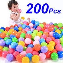200 шт./пакет Эко-дружественных Красочный мягкий Пластик воды в бассейне океанская волна мяч детские забавные детские игрушки стресс воздушный шарик отдых на открытом воздухе спорта