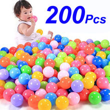 200pcs/bag Eco-Friendly Colorful Soft Plastic Water Pool Ocean Wave Ball Baby Funny Kids Toys Stress Air Ball Outdoor Fun Sports(China)