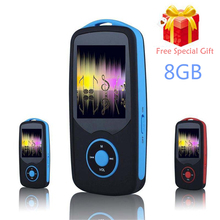 RUIZU X06 Bluetooth Sport MP3 Player 8GB with 1.8Inch Screen can play 100hours high quality lossless Recorder FM +Free Lanyard