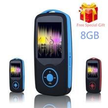 RUIZU X06 Bluetooth Deporte Reproductor de MP3 de 8 GB con 1.8 Pulgadas de Pantalla puede jugar 100 horas sin pérdidas de alta calidad Grabadora FM + Free Lanyard