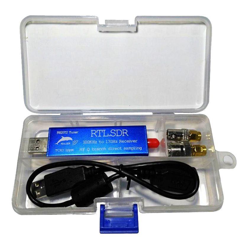 CLCU RTL. SDR 2832U + R820T2 0.1 MHz-1.7 GHz TCXO ADSB UHF VHF HF FM récepteur de Tuner USB