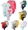 Original casaco infantil Baby Boys Girls Clothings Sets, kids bebe clothes  Baby Models (Bodysuits+Pants)3pcs Set