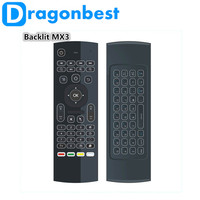 Backlit MX3 Remote Control G Sensor QWERTY 2.4Ghz Wireless backlight Mini Keyboard Air Mouse MX3L for Android TV Box XBox Laptop