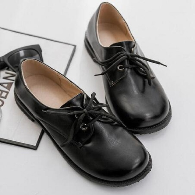 31~43 small big size 2016 British Style Women Loafer Patent Leather Women's Shoes Round Toe Solid Casual Slip On Flat Heel Shoes