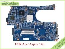 MBBKM01001 48.4HP01.011 JE70-DN MB 09929-1 MB. BKM01.001 Para acer aspire 7551 7551G laptop motherboard ATI HD5470 DDR3