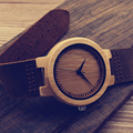 BOBO BIRD D13 Men's Design Brand Luxury Natutre Bamboo Wristwatch With Real Leather Band Japanese Quartz 2035 Watch in Gift Box