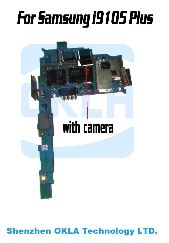 imágenes para Con Cámara Utilizada Original Motherboard Mainboard Trabajo Para Samsung Galaxy S2 i9105 Plus i9105P