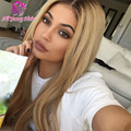 T1b/27 Blonde Ombre Lace Wig Brazilian Human Hair Full Lace Wigs Glueless Lace Front Wig with Baby Hair Middle Part U Shape Wig