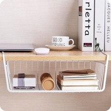 Simple Iron Dish Storage Holders Creative Kitchen Bathroom Multifunction Dishware Desktop Hanging Superposition Basket Organizer