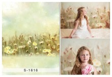 Beautiful flowers children Photography Backdrops Computer Printing Background for photo studio