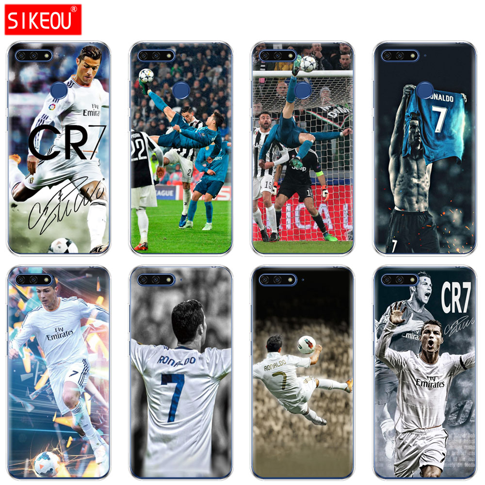 Silicone Cover Phone Case For Huawei Honor 7A PRO 7C Y5 Y6 Y7 Y9 2017 2018 Prime PRO cristiano ronaldo cr7 2018 wallpaper huawei p30 pro обои