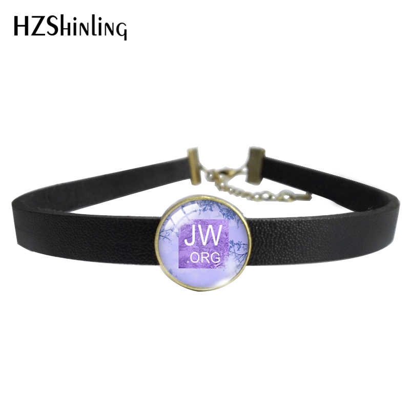 2019 Baru Fashion JW. Org Bunga dan Burung Kulit Kalung Kalung Kaca Liontin Kalung dan Gelang Perhiasan