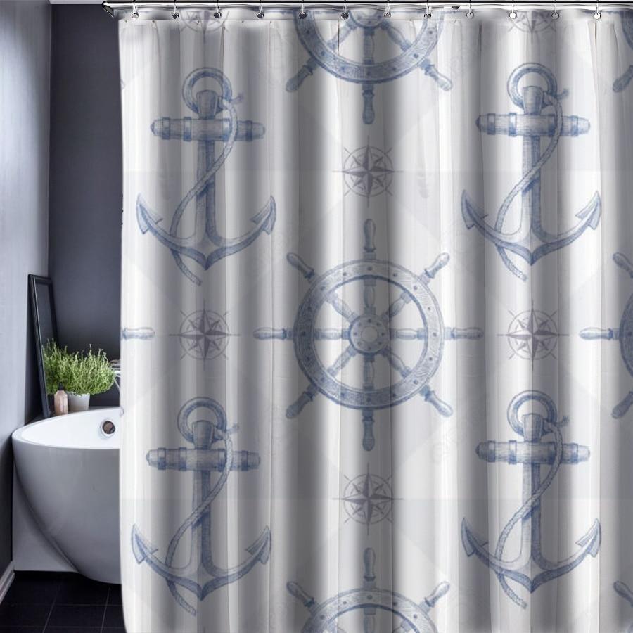 Medium Of Nautical Shower Curtains