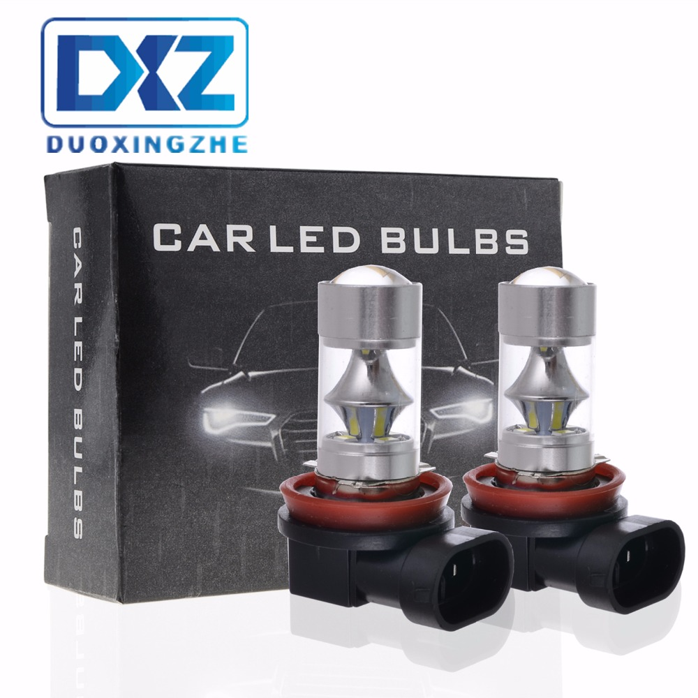 2Pcs H8 H11 HB4 9006 HB3 9005 Fog Lights Bulb 950LM 6000K White Car Driving Daytime Running Lamp Auto Leds Light 12V 2pcs 12v 24v h8 h11 led hb4 9006 hb3 9005 fog lights bulb 1200lm 6000k white car driving daytime running lamp auto leds light