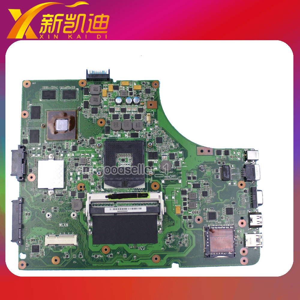 Original new laptop motherboard for asus K53SV REV:3.1 USB3.0 GT540M 60-N3GMB1900-B02 mainboard original new for asus n43sl laptop motherboard rev 2 0 ddr3 hm65 gt540m 1g n12p gt a1 mainboard
