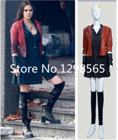 New Avengers: Age of Ultron Wanda Maximoff Scarlet Witch Cosplay Costume
