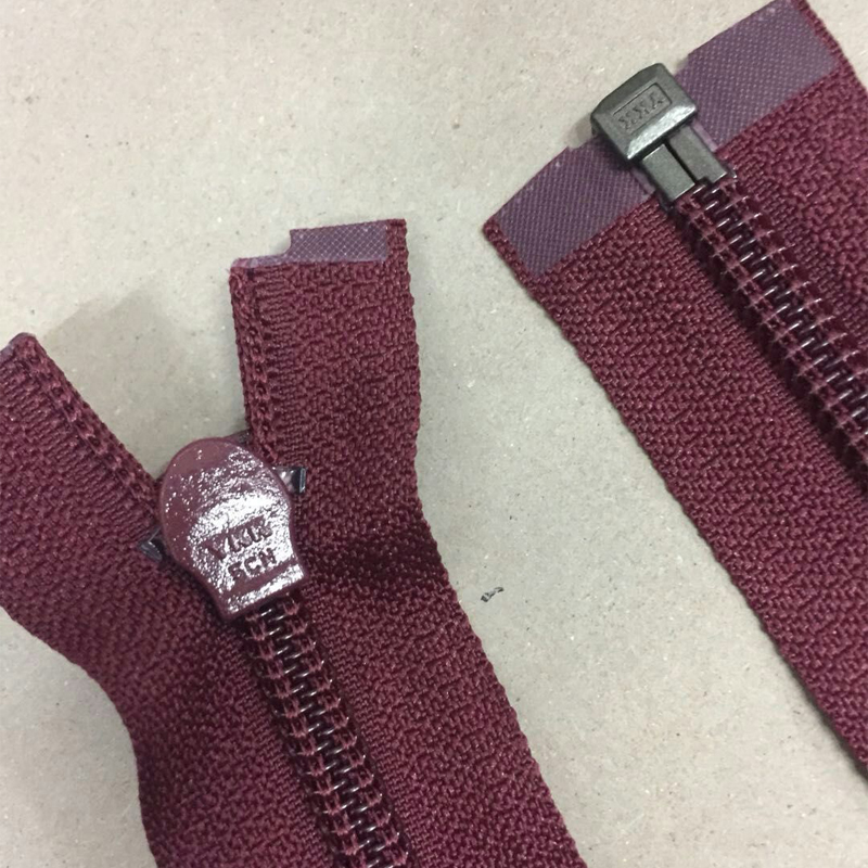 10 Pcslot Most Free Shipping Long Nylon Invisible Ykk Zipper Nearly 70cm Single Open End Wine Red Sewing Accessories Wholesale
