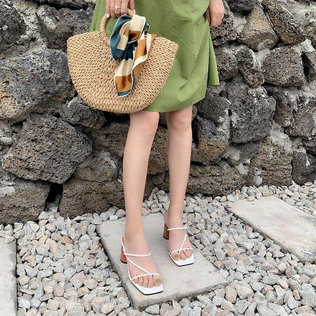 HTB1IM2fbB1D3KVjSZFyq6zuFpXaF MONMOIRA Wood Heel Slipper Women's Sandals Vintage Square Toe Narrow Band High Heel Sandals Women Summer Shoes Women SWC0713