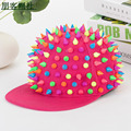 Best seller Punk Hedgehog Rock Hip Hop Rivet Stud Spike Spiky Hat Cap Baseball Cap Adjustable Flat Bill Snapback Punk Cap Hat