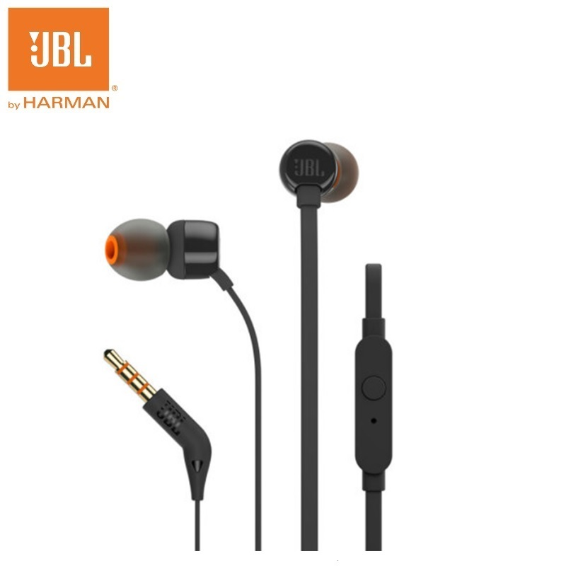 JBL T110 In-ear Go Earphones Remote With Microphone Sport Music Pure Bass Sound Headset For leagoo s9 iPhone Smartphone Portable
