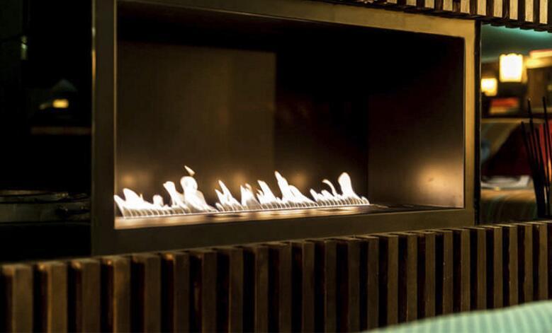 36 Inch Real Fire Wifi Intelligent Smart Bio Ethanol Built In Fireplace