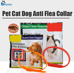 Soft Silicone Cat Dog Flea Collar Adjustable Pets Fleas Collars Leave Your Pet Away from Tick Mite Louse Remedy Pet Accessories(China)