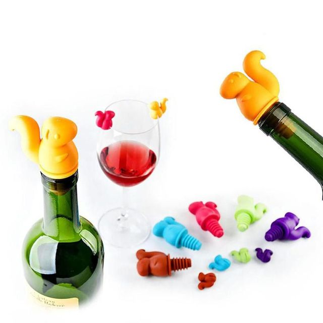 Squirrel Shaped Silicone Wine Bottle Stopper