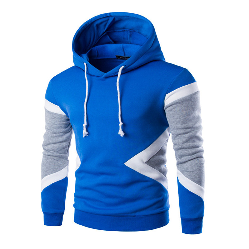 2017 New Sell like hot cakes Mens Hoodies Winter Pullovers Leisure Patchwork Colors Fashion Sweatshirts Hooded Coats Hoddies