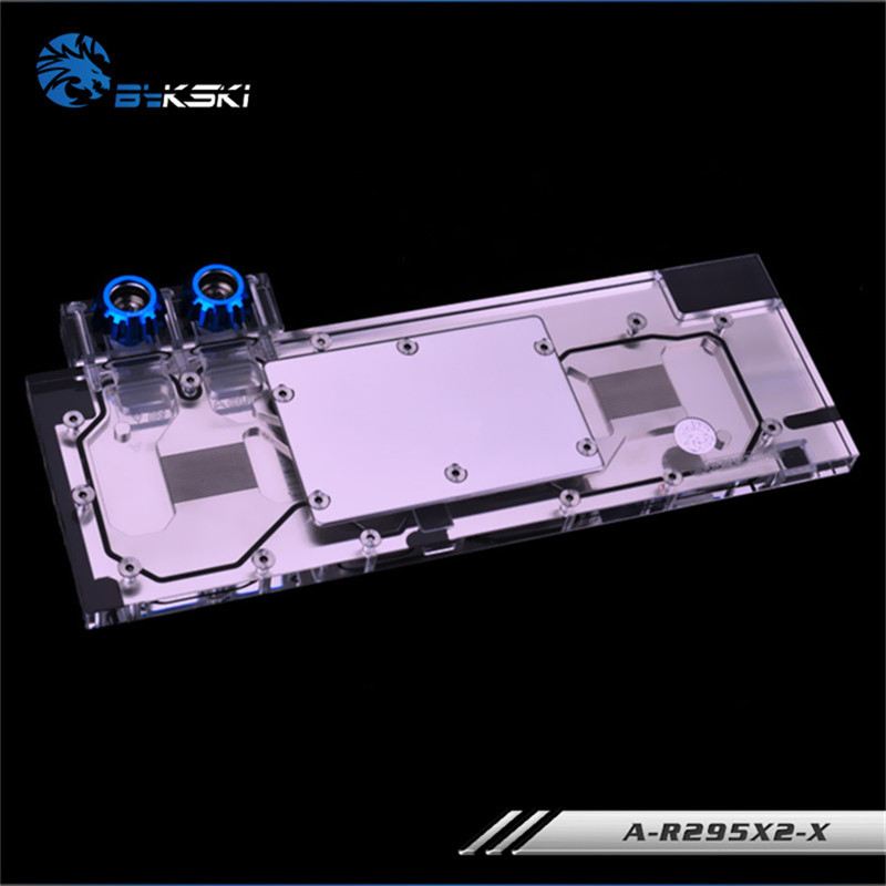 Bykski Full Coverage GPU Water Block For Public version full range of R9 295x2 Graphics Card A R295X2 X-in Fans & Cooling from Computer & Office    2