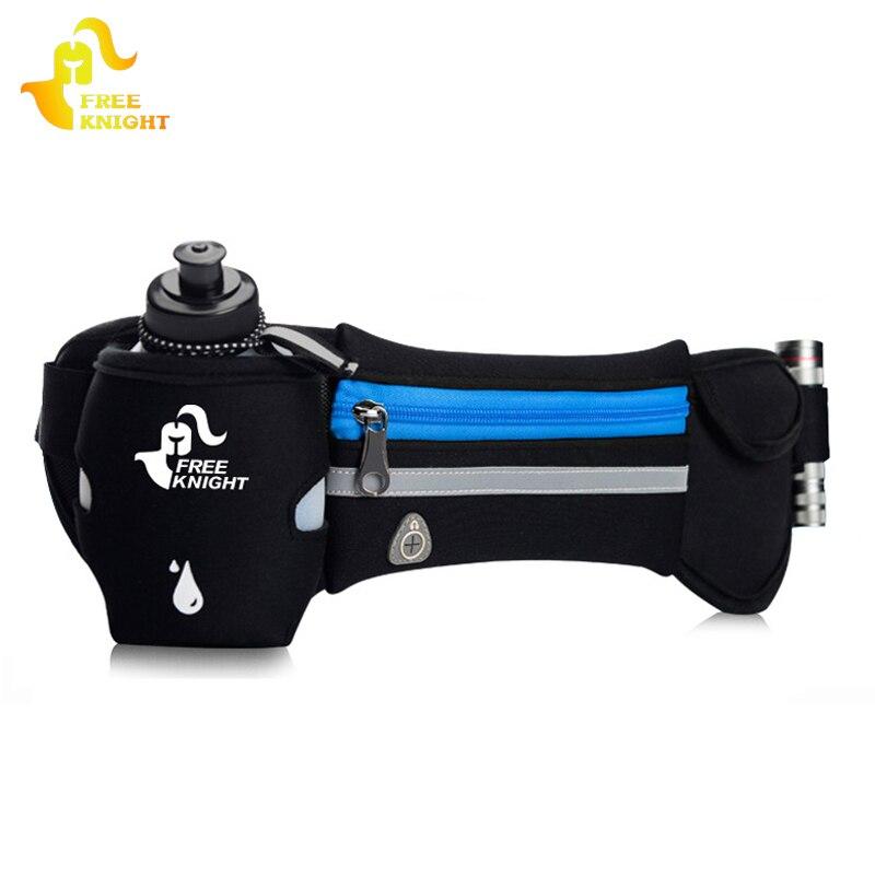 Freie Ritter Laufen Hydratation Gürtel, Frauen Herren Sport Laufschuhe Hüfte Taille Tasche, wasserdicht Jogging Gym Taille Pack Mit Wasser Flasche