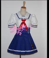 Aikatsu Kiriya Aoi Hoshimiya Ichigo Uniforms Cosplay Costume School Dress Custom Made Free Shipping