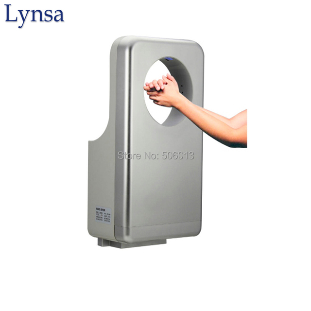 washroom powerful jet hand dryer circular three air outlet max speed 110ms antibacterial coating - Air Hand Dryers