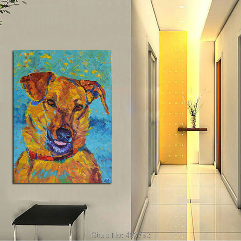 Barocco Christmas Gifts Dog painting dog portrait Oil on Canvas art home decoration unframed pictures painting