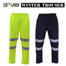 SFVest Hi vis Broek baggy Casual night running biker reflecterende broek jogger outdoor casual mens winter broek gratis verzending(China)