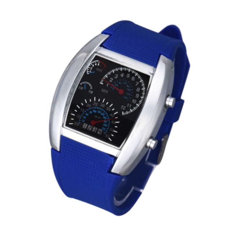 7f41e28f6 Watch Men Women Watches Fashion Aviation Turbo Dial Flash LED Watch Gift  Mens Lady Sports Car
