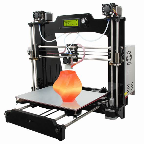 2016  Upgraded Quality High Precision 2-In-1-Out Reprap Prusa I3 M201 DIY Acrylic 3d Printer Kits Big Printing Size Free LCD