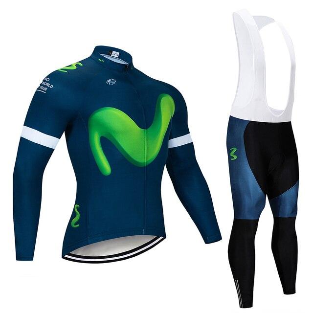 Cycling Jersey 2018 Pro Team Movistar Long Sleeve Ropa roupa Ciclismo Men s  Bike Mountain Bike Clothing Bicicleta Cycling Male 6092095a9