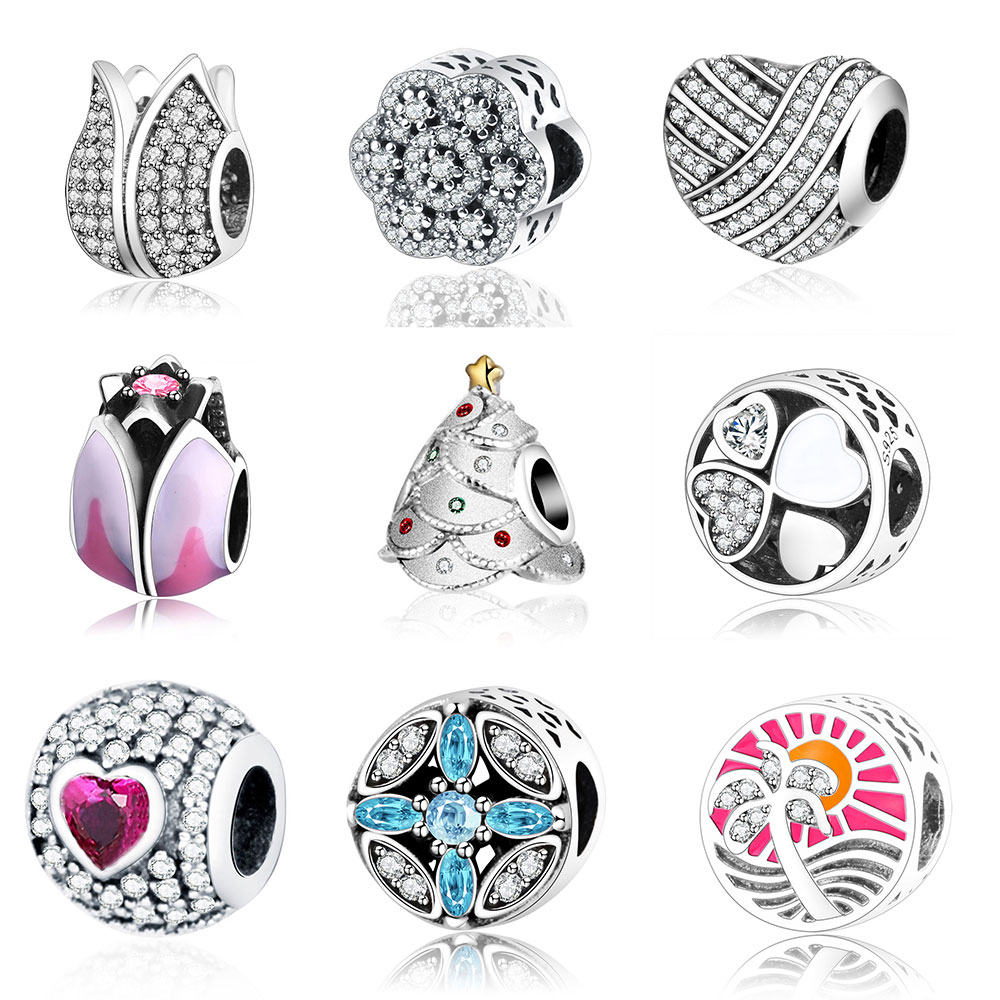 Fit Original Pandora Charm Bracelet 925 Sterling Silver Lily Flower Bead Charms Jewelry Making 2017 Spring Collection Berloque strollgirl car keys 100% sterling silver charm beads fit pandora charms silver 925 original bracelet pendant diy jewelry making